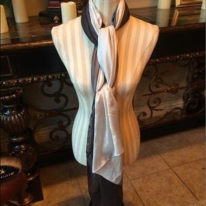 Two Shades of Luxurious Gray 100% Silk Scarf
